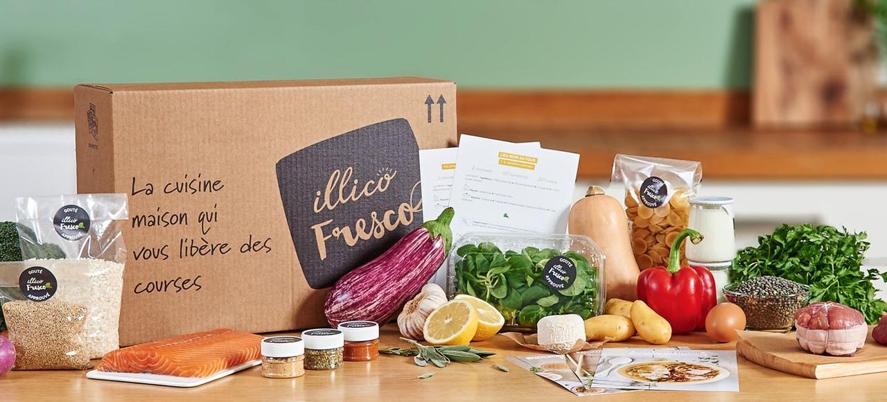 Depuis décembre, Illico Fresco livre des paniers-recettes à domicile.