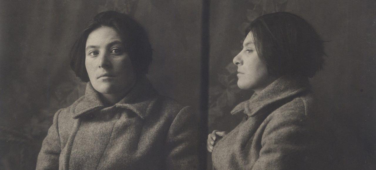 Evguénia Iaroslavskaïa-Markon, lors de son arrestation, avant d'être envoyée au «camp à destination spéciale» des îles Solovki.