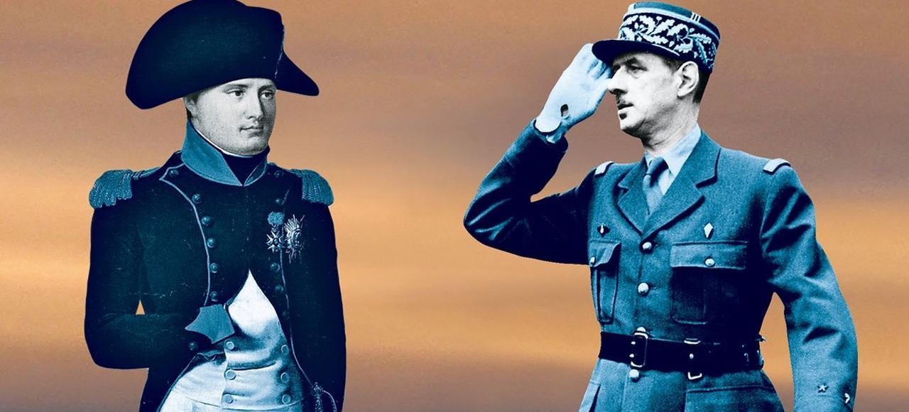 L'Empereur et l'Homme du 18juin ont marqué la France de manière indélébile.