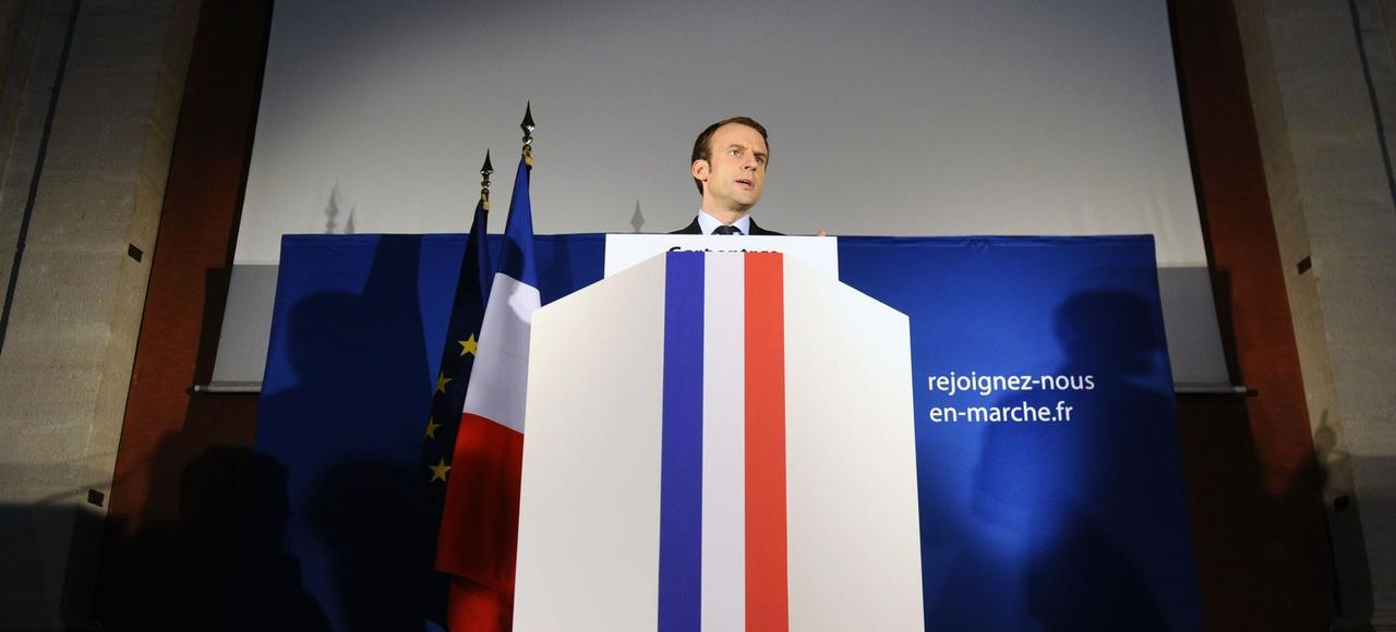 Emmanuel Macron en meeting, vendredi, à Carpentras (Vaucluse).