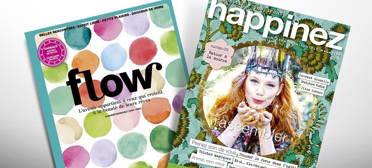 Flow et Happinez sont parmi les magazines qui ont réalisé les meilleures performances de ventes en France en 2016.
