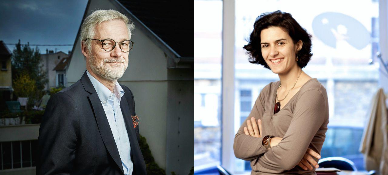 Pascal Balmand, secrétaire général de l'enseignement catholique (SGEC) et Anne Coffinier, présidente de la Fondation pour l'école.
