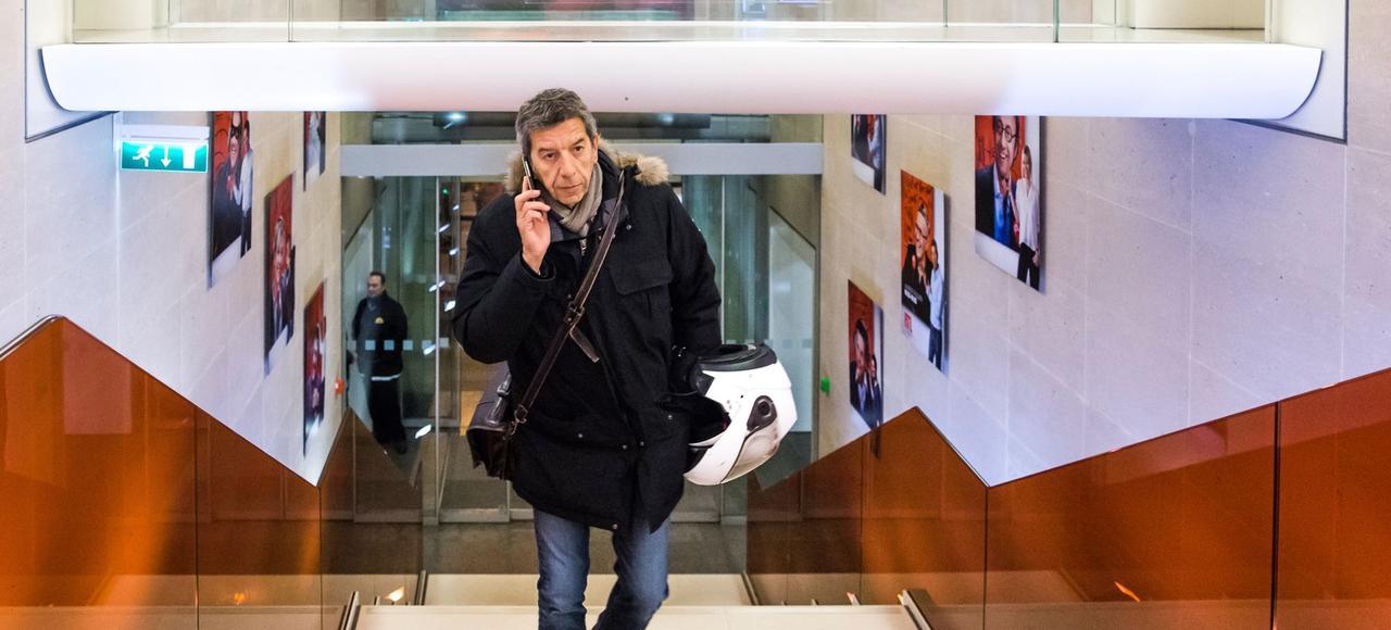 Michel Cymes, dans les locaux de RTL.