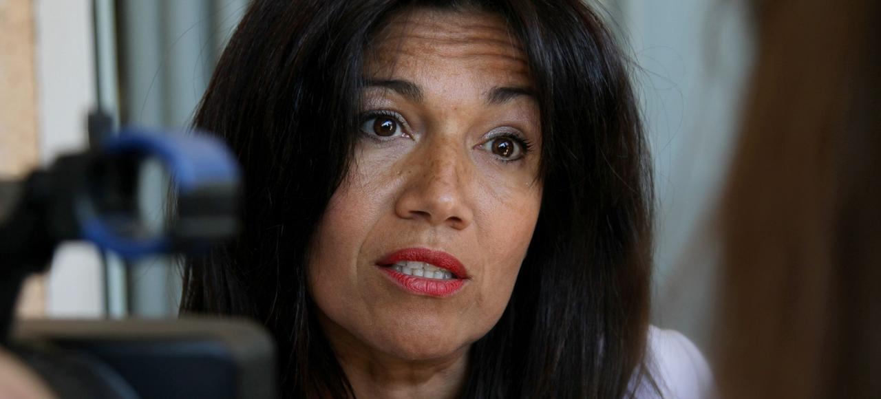 Samia Ghali, en avril 2016 à Marseille.