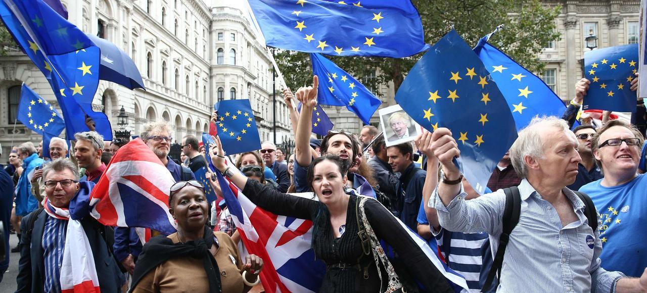Manifestation contre le Brexit, en septembre à Londres.