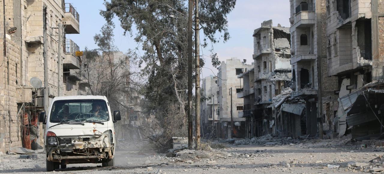 La ville d'al-Bab, en Syrie où Himich a été vu pour la dernière fois.