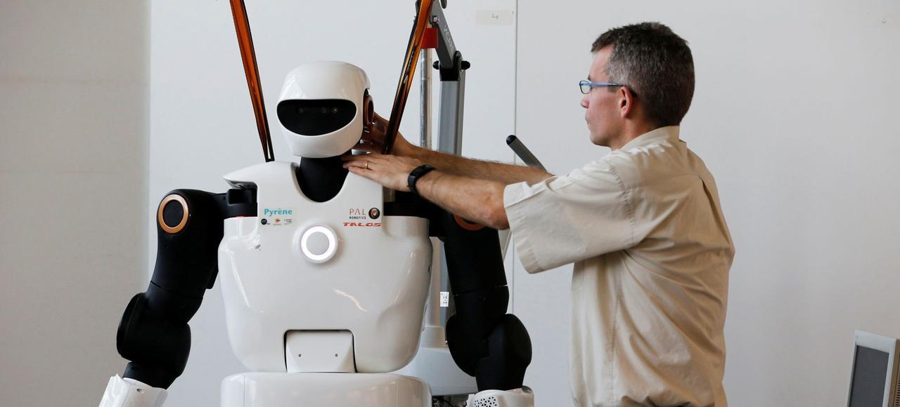 Le LAAS-CNRS a présenté le 21 février 2017 Pyrene, son robot humanoïde nouvelle génération.