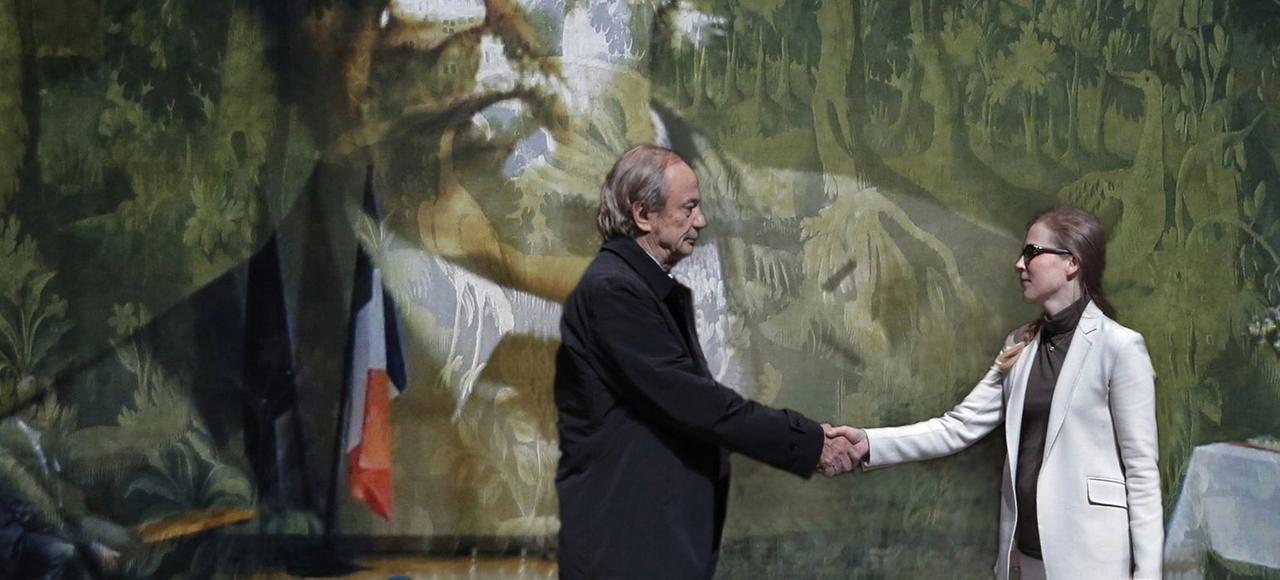 Patrick Chesnais et Isabelle Carré dans «Honneur à notre élue».