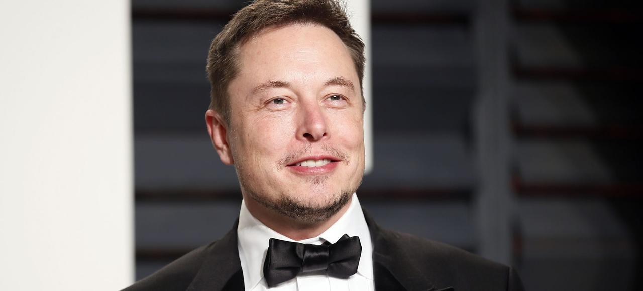 Elon Musk, le 26 février lors le la cérémonie des Oscars.