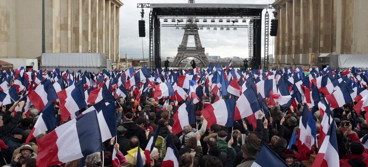 Le rassemblement de soutien à François Fillon, dimanche 5 mars, à Paris.