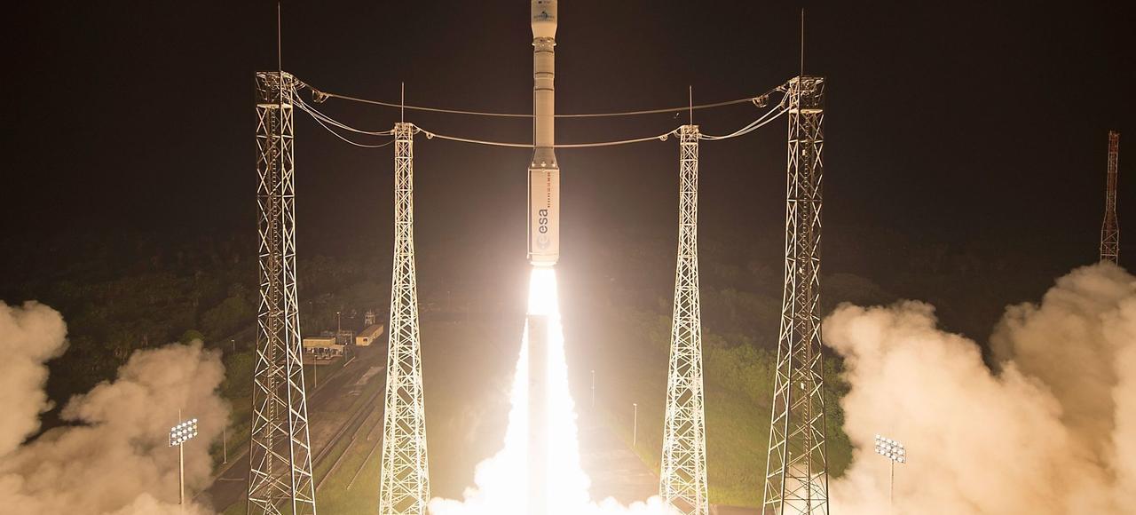 Lors du lancement de la fusée Vega à Kourou (Guyane Française), le 7 mars.