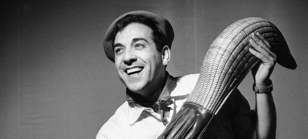 Luis Mariano dans l'opérette «Le Chanteur de Mexico», de Francis Lopez (théâtre du Châtelet à Paris, décembre 1951).