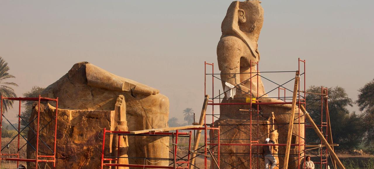 L'incroyable renaissance des colosses de Louxor