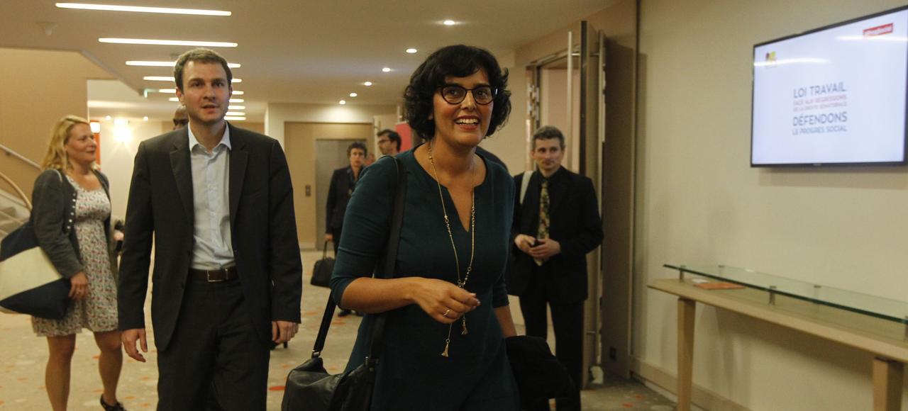 La ministre du Travail, Myriam El Khomri, brigue pour la première fois une place de député dans le XVIIIearrondissement de Paris.