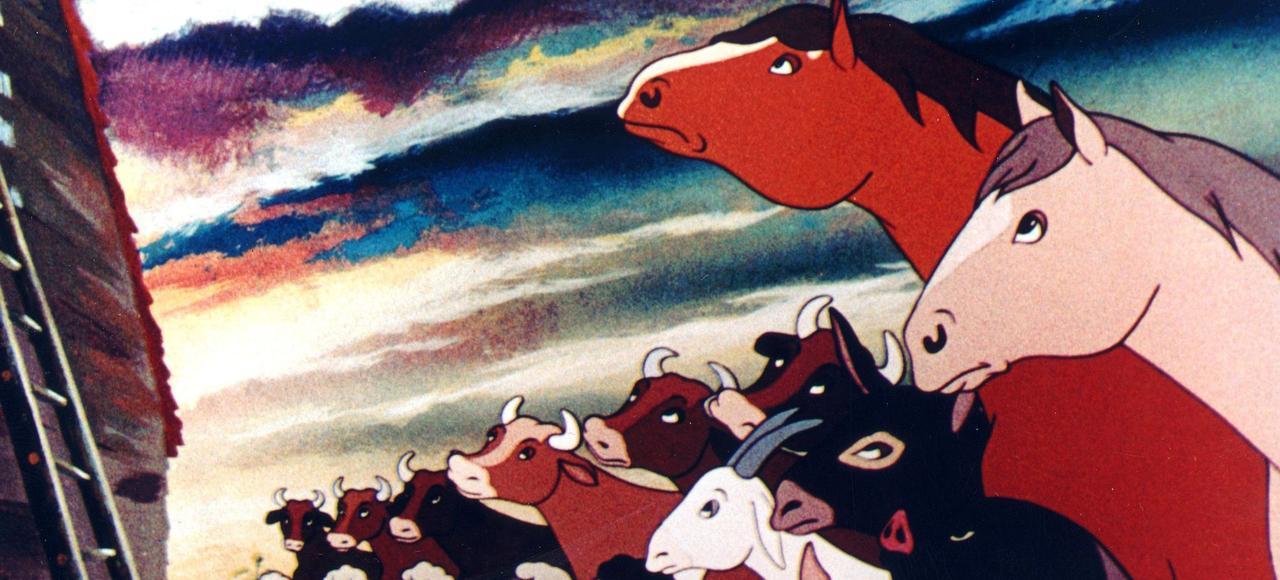 Dans une ferme qui part à vau-l'eau, les animaux réunis en soviet décident de prendre le pouvoir.