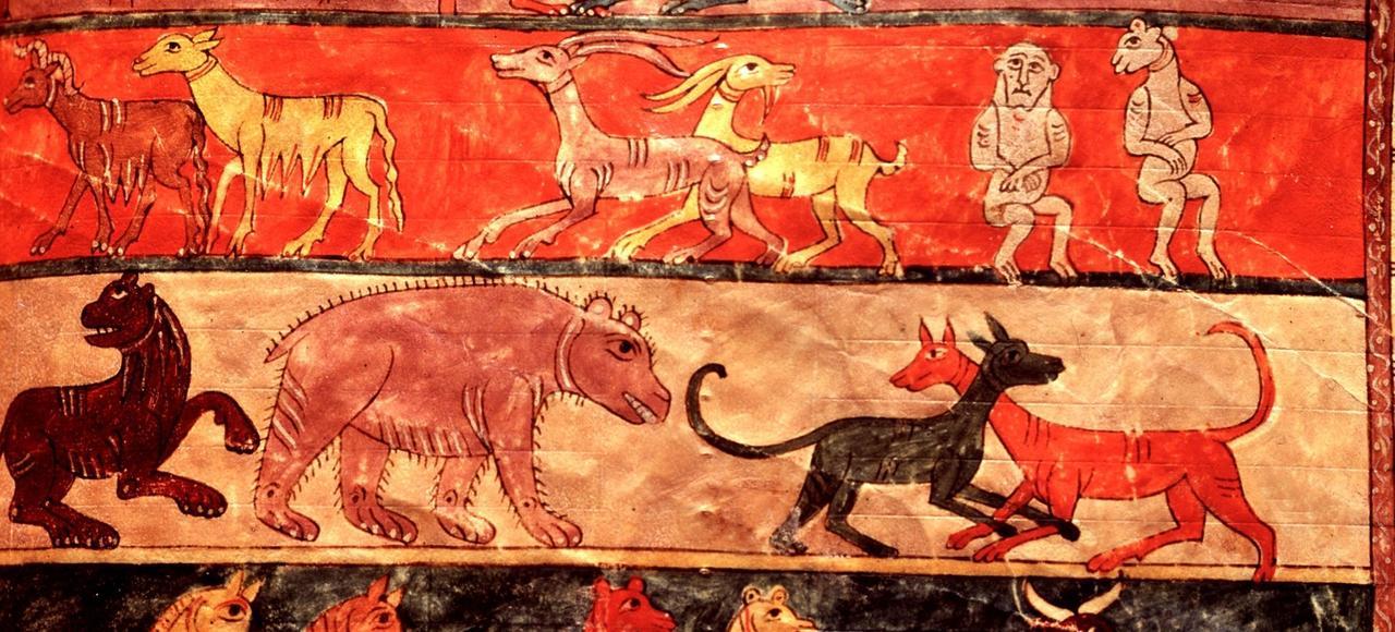 Enluminure représentant l'archede Noé (vers 970-975).
