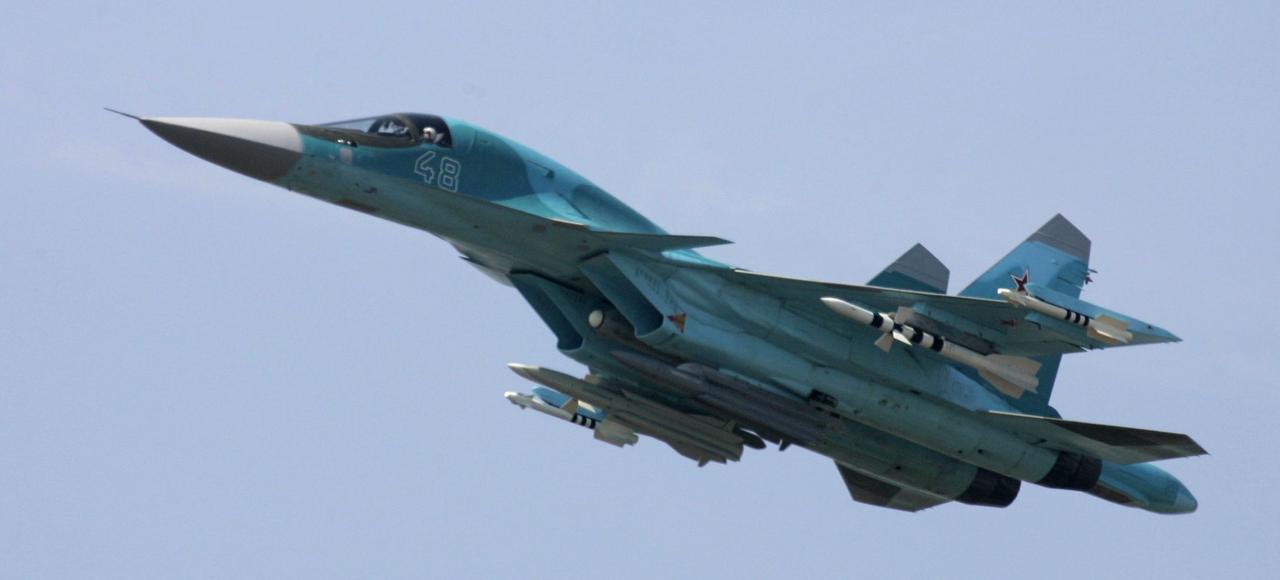 Le chasseur polyvalent Soukhoï Su-34.