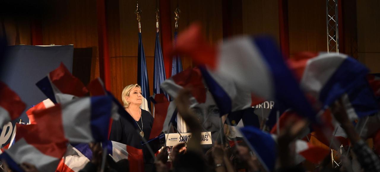 Marine Le Pen, à Saint Raphaël, le 15 mars 2017.