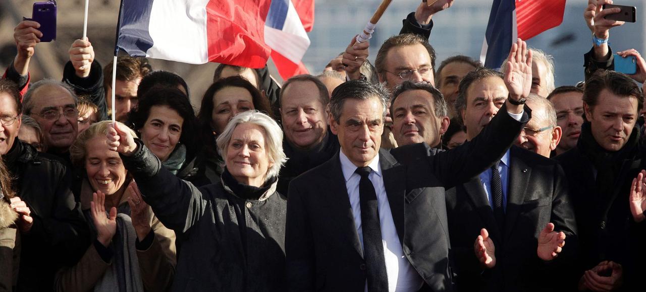 François Fillon, lors du rassemblement au Trocadéro, au début du mois de mars