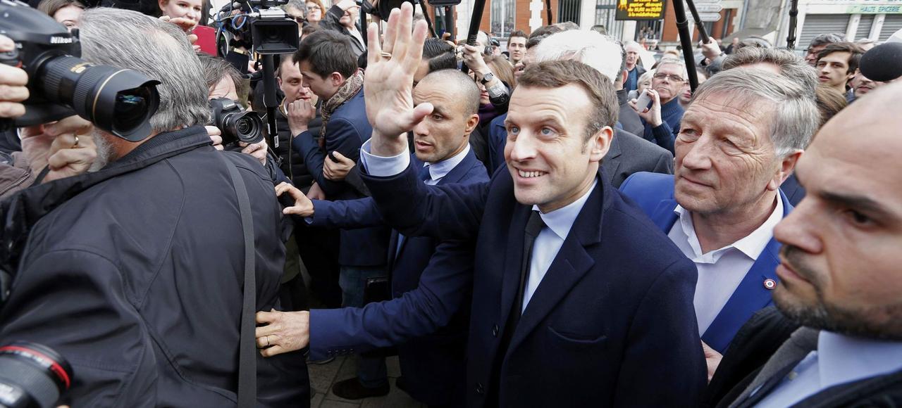 Emmanuel Macron vendredi à Villers-Cotterêts.