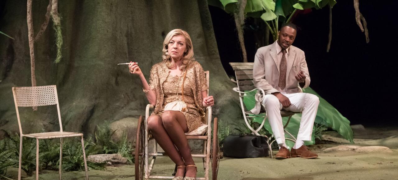 Luce Mouchel et Jean-Baptiste Anoumon incarnent Mrs Venable et le Dr Cukrowicz dans <i>Soudain l'été dernier</i>, mis en scène par Stéphane Braunschweig.