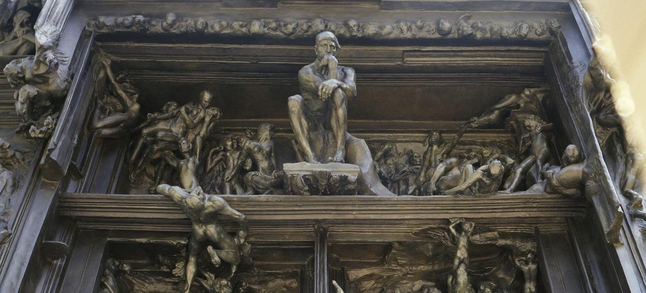 «La Porte de l'Enfer» (détail, 1880-1890) d'Auguste Rodin.