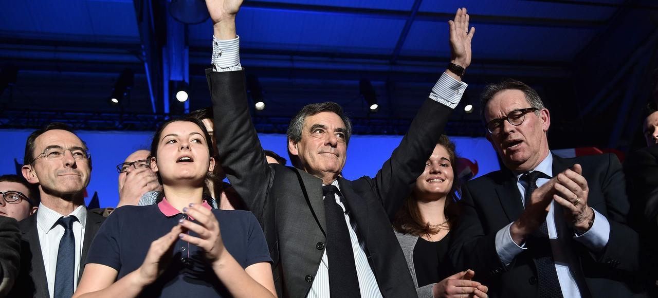 François Fillon lors de son meeting à Nantes, le 27 mars.