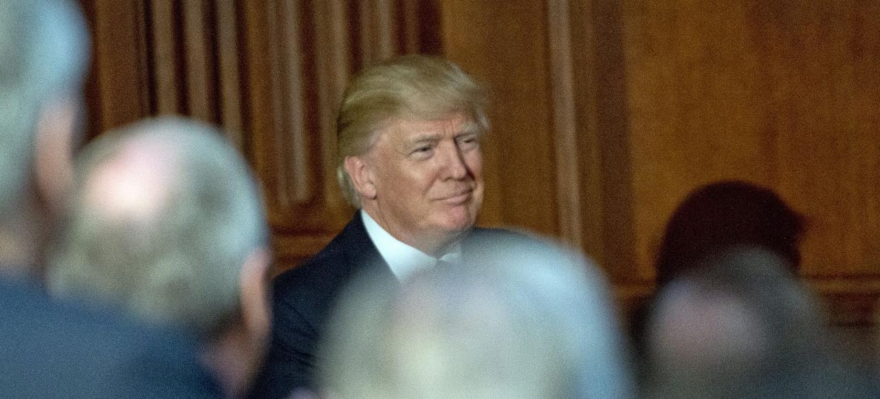 Le président Donald Trump à l'Agence de protection de l'environnement, le 28 mars 2017.