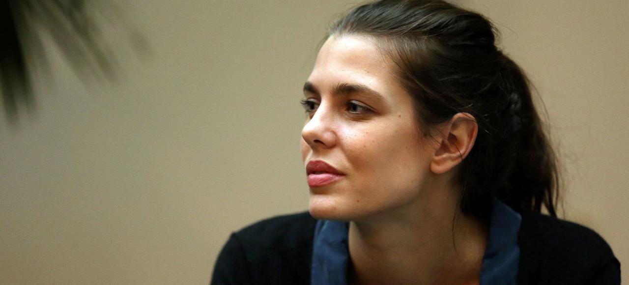 Charlotte Casiraghi, lors de l'inauguration des rencontres philosophiques de Monaco, le 13 octobre 2016.