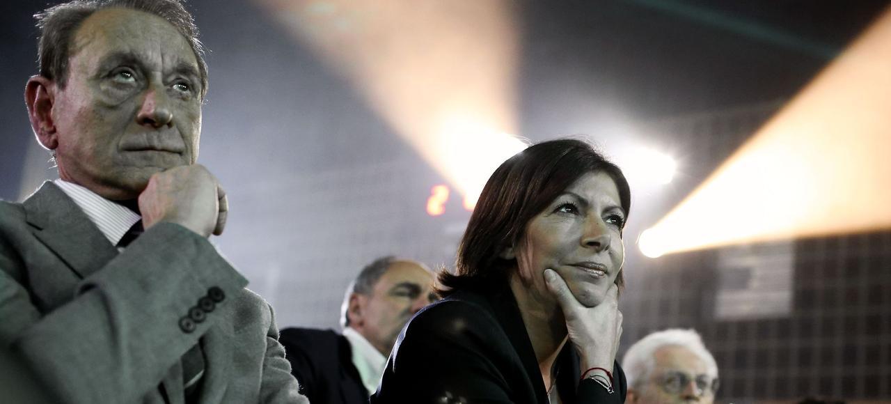 Bertrand Delanoë et Anne Hidalgo en 2014.