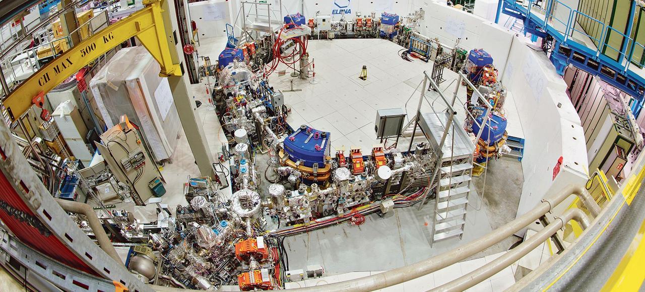 L'anneau de décélération d'antiprotons Elena, au Cern, à Genève, permet d'optimiser la production d'antimatière.