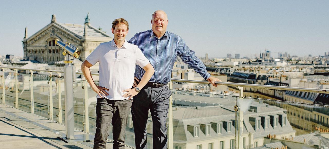 Olivier Hersent, PDG et fondateur d'Actility et Mike Mulica, son CEO, en août 2016 à Paris.