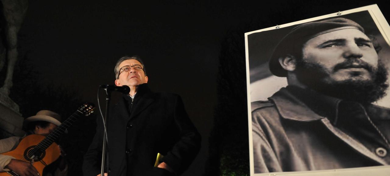 Jean-Luc Mélenchon, lors d'un hommage à Fidel Castro, le 26 novembre 2016 à Paris.