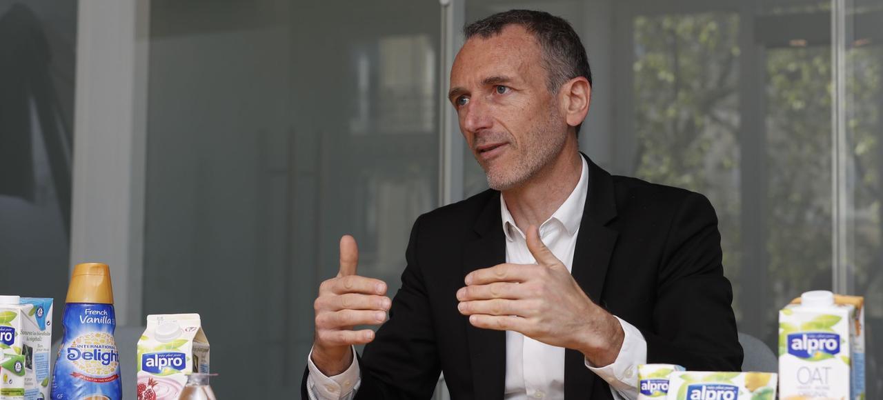 Emmanuel Faber, directeur général de Danone, mardi à Paris.