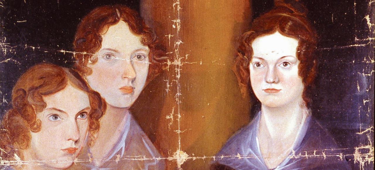 Portrait des trois soeurs Brontë (1834) par leur frère, Branwell Patrick Bronte.