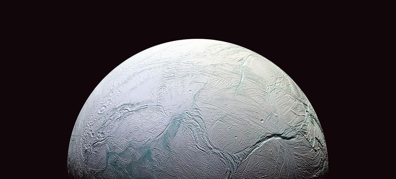 Encelade une «lune» de Saturne photographiée par la sonde Cassini, en octobre 2015.