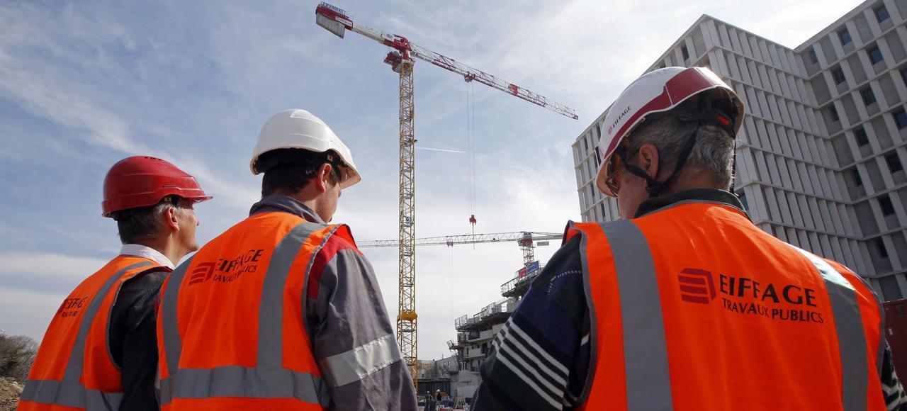 Des techniciens d'Eiffage sur un chantier à Marseille.