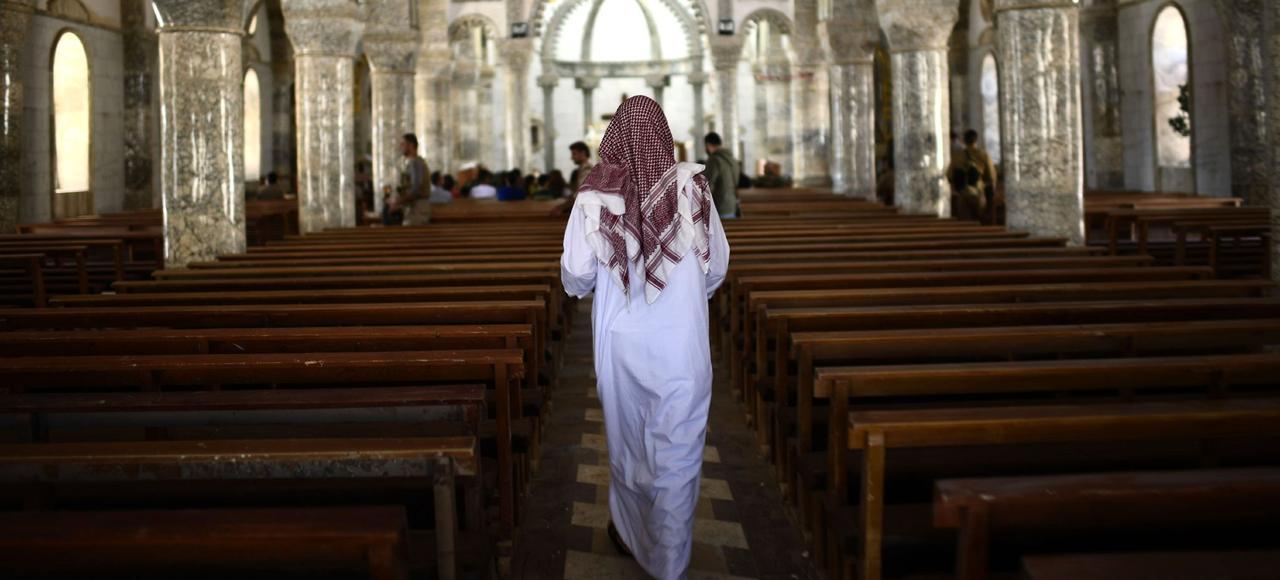 L'église catholique Saint-John de Qaraqosh, le jour de Pâques.