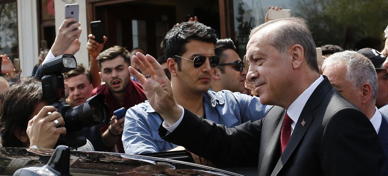 Recep Tayyip Erdogan le 17 avril 2017.