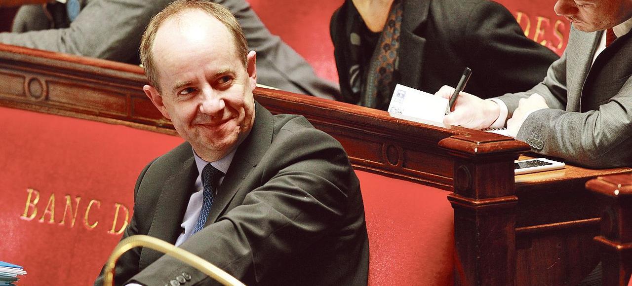 Jean-Jacques Urvoas, sur les bancs de l'Assemblée, le 2 février 2016.