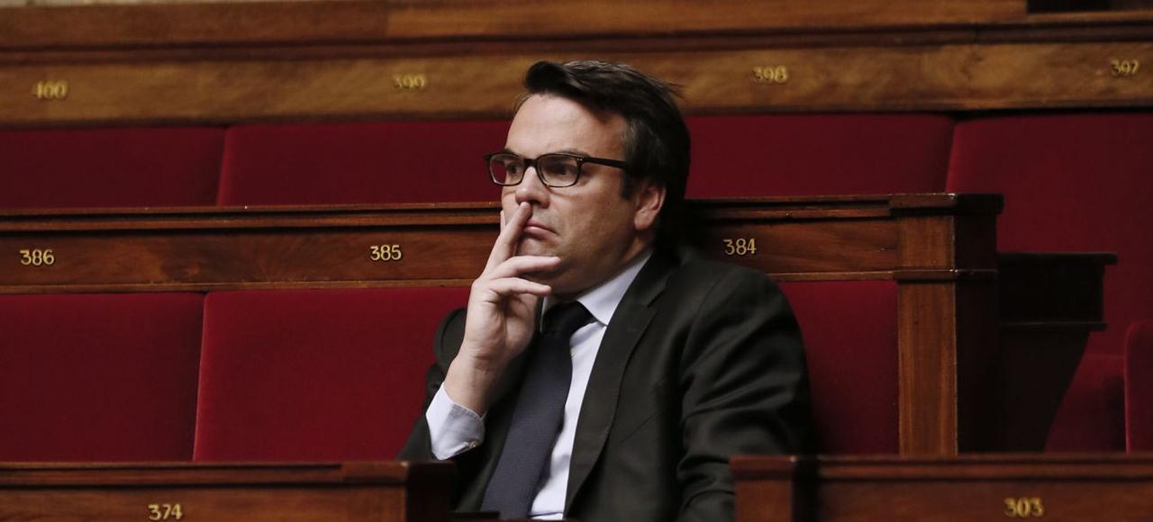 Thomas Thévenoud, sur les bancs de l'Assemblée, en novembre 2014.