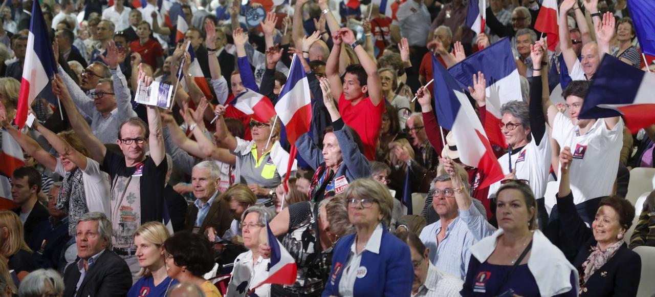 Réunion électorale en faveur de François Fillon au parc des Expositions de la porte de Versailles à Paris.