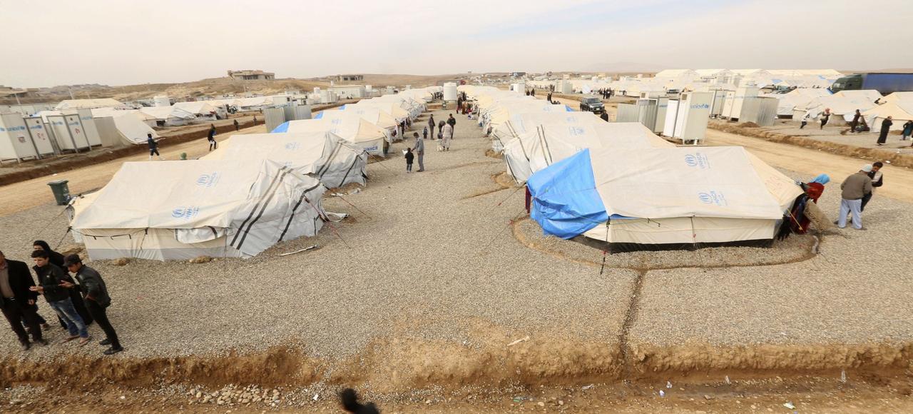 Le camp de déplacé de Khazir en Irak.