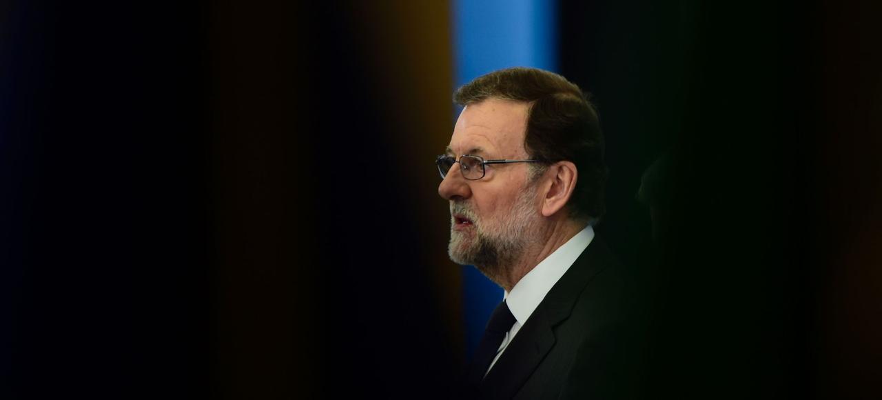Mariano Rajoy, le 10 avril, au Palacio del Pardo, près de Madrid, lors d'un sommet des pays de l'Union européenne.