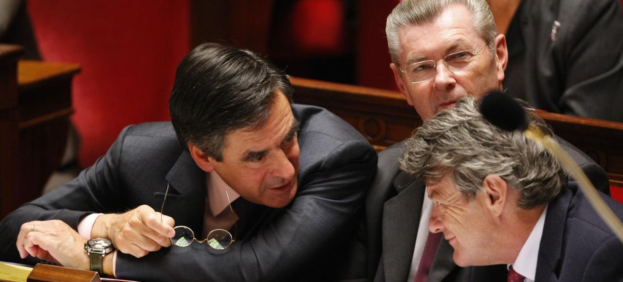 François Fillon et Jean-Louis Borloo, en 2010, à l'Assemblée nationale.