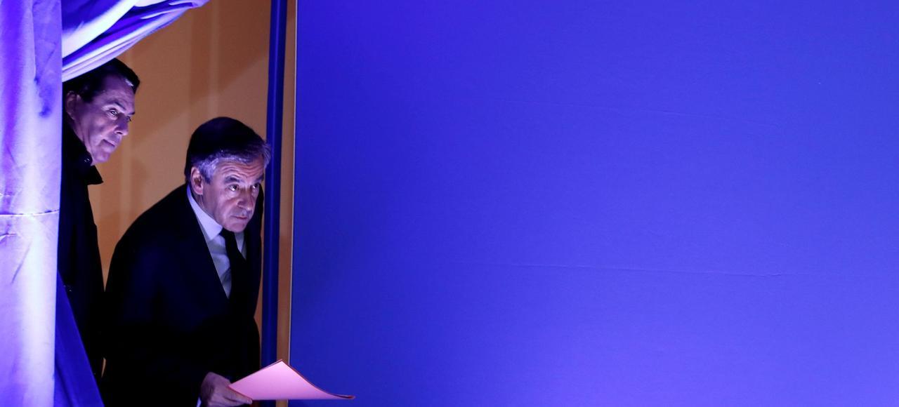 Le 6 février dernier, François Fillon se défend lors d'unc conférence de presse des accusations d'emplois fictifs dont il fait l'objet après les révélations du Canard enchaîné.