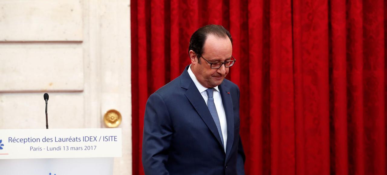 <i>«Nous avons plus d'embauches, le chômage baisse, nous avons des investissements, une croissance qui repart»</i>, s'est félicité François Hollande jeudi (ici à l'Élysée, le 13 mars.)