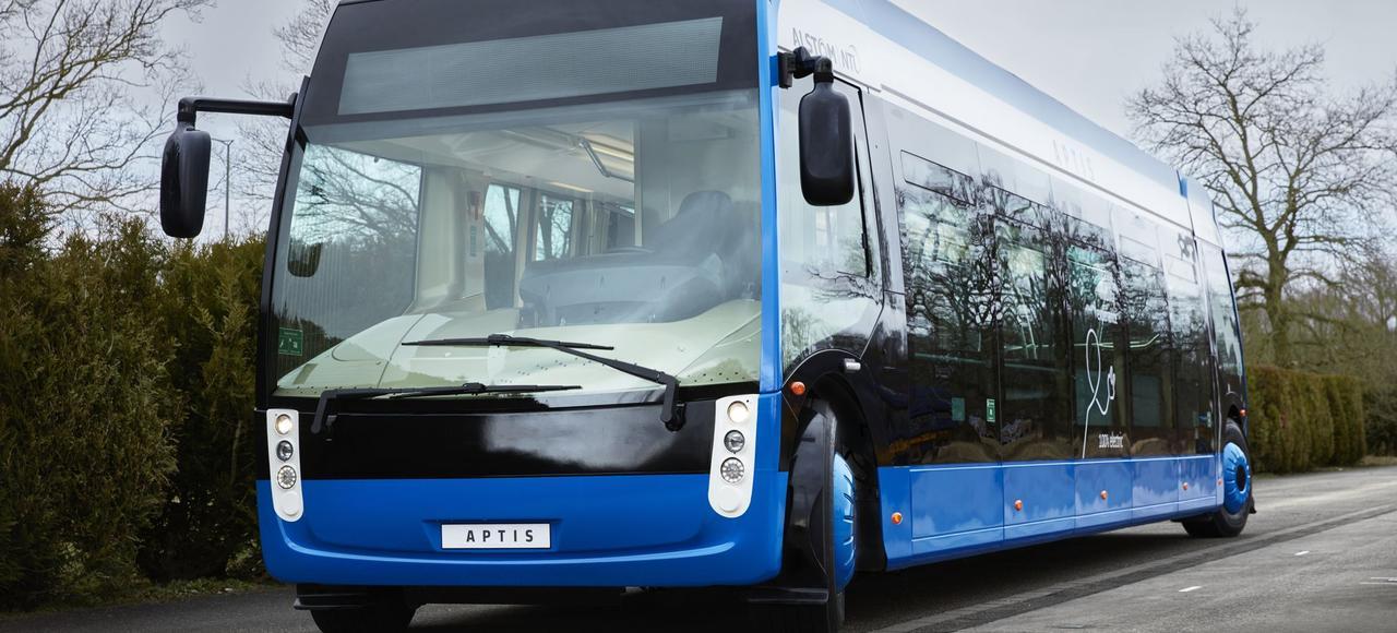 Le bus électrique Aptis est actuellement testé à Paris.