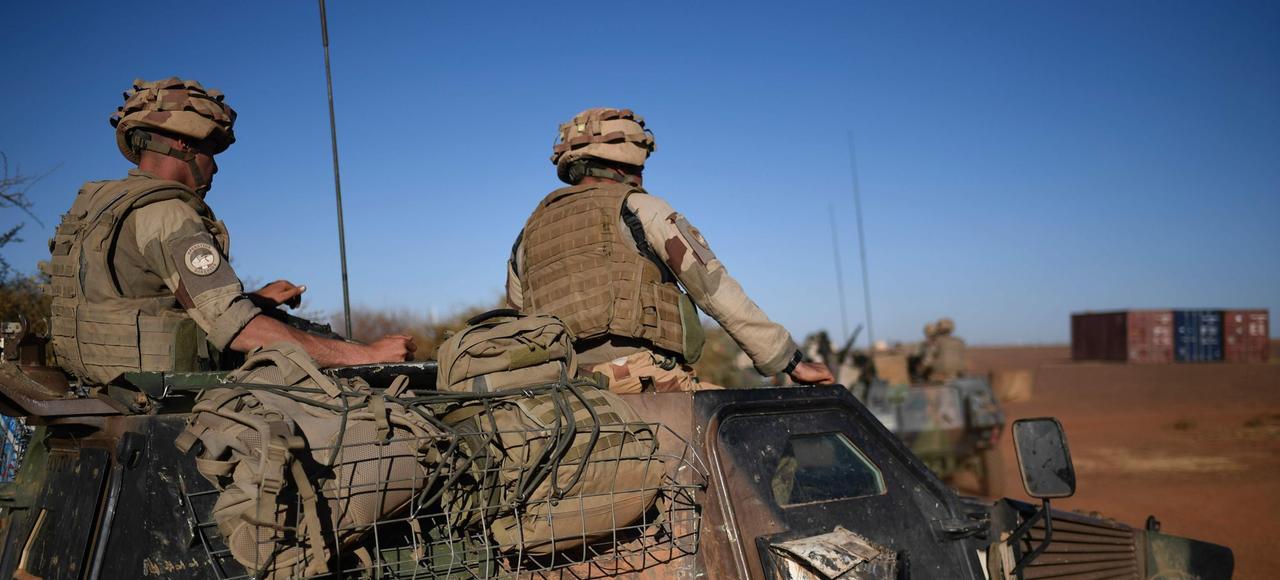 Des soldats français de l'opération «Barkhane», le 13 janvier 2017 à Gao, dans le nord du Mali.