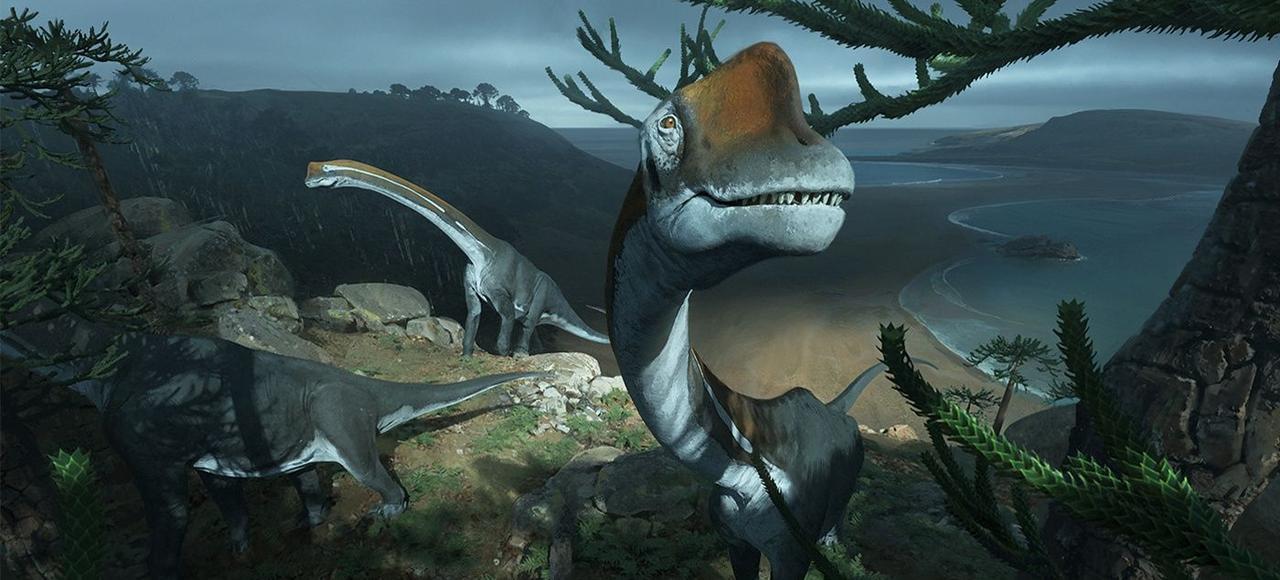 Proches des brachiosaures, les Vouivria vivaient sur les rivages de l'actuelle Franche-Comté, il y a 160 millions d'années.